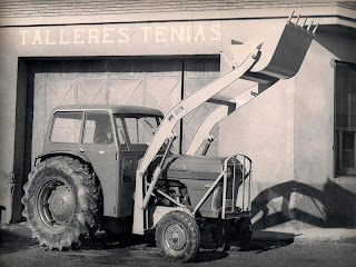 Pala cargadora Tenías en los años 60