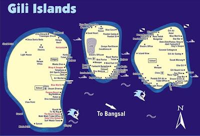 Lombok Wisata on Wedding Store Hotel  Obyek Wisata Gili Air Hotel Lombok Travel Map