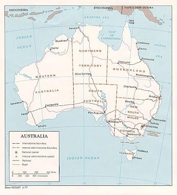 GAMBAR PETA AUSTRALIA - GAMBAR BESAR