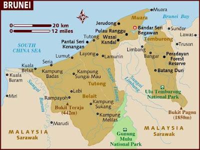 gambar peta negara brunei darussalam