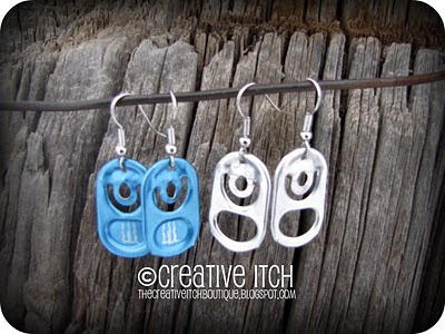 Crafts Made with Can Tabs http://somedaycrafts.blogspot.com/2011/01/soda-can-tab-earrings.html
