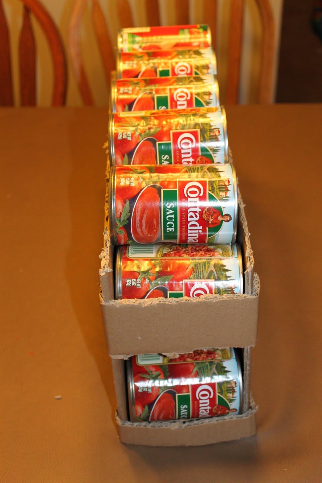 Home food storage & Home food storage: Cardboard Rolling Shelves