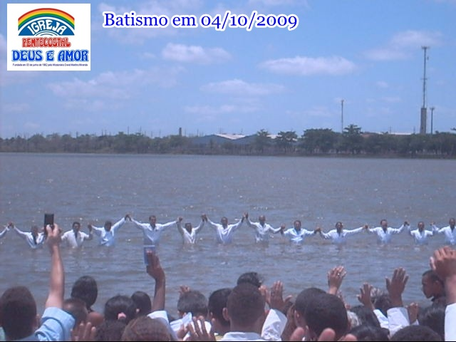 Batismo em 04/10/209