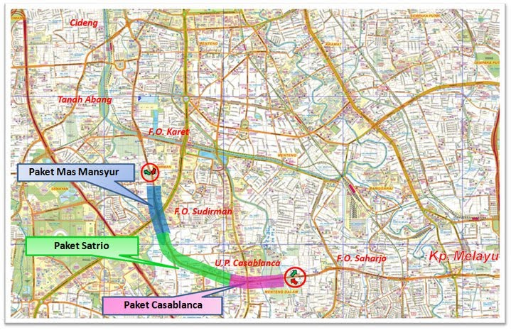 Peta dan Ilustrasi Disain Tipikal Jalan Layang Non Tol (JLNT) Kampung