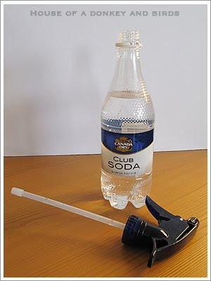 炭酸水で窓磨き