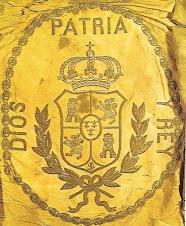Bandera utilizada por el ejército carlista del Maestrazgo