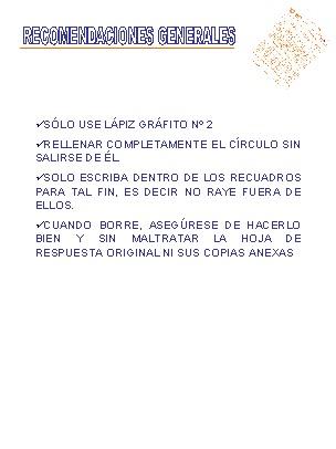 UNA CL Sucre: Manual para el Llenado de la Hoja de Respuesta