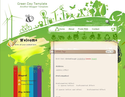 Green Day Blogger Theme