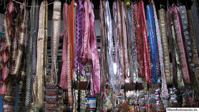 ribbon and lace shop in mumbai bazaar