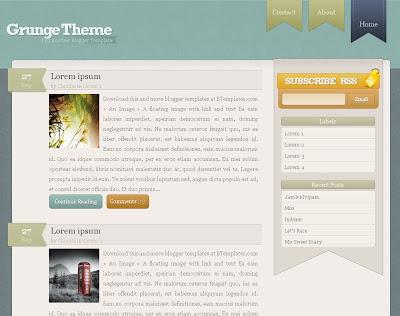 Grunge Blogger Theme