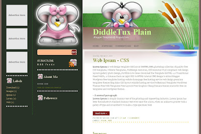 Diddle Tux Blog Theme