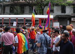 Rainbow flags at Mumbai's Gay Parade
