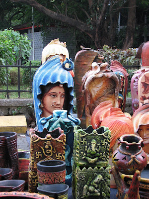 Pottery work at Kala Ghoda Festival of India