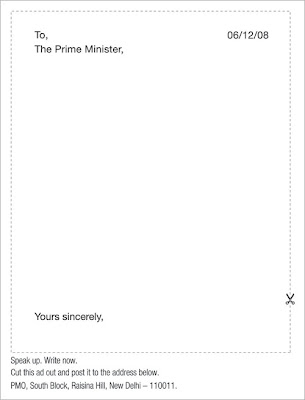 Leo Burnett ad - Write a letter to the Prime Minister