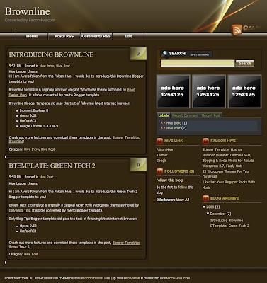 Brownline blogger template