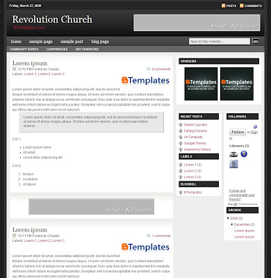 Revolution Church Blogger Skin