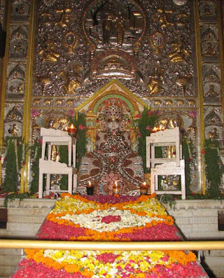 Idol of lord Adeshwar or Adinath or Rushabhdev in Byculla temple