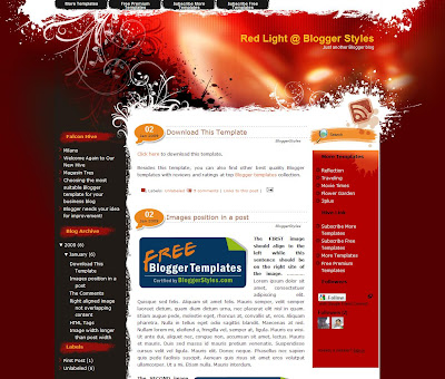 Red Light blogger template