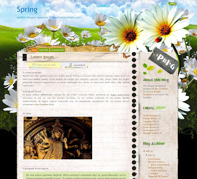 Spring Blogger Theme