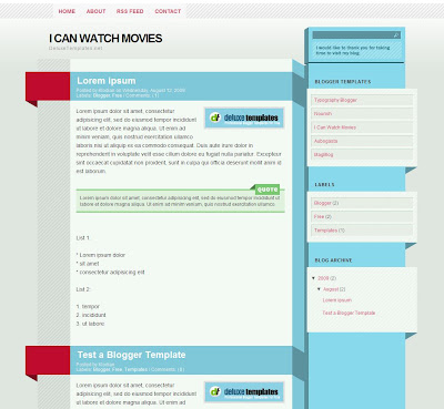 I Can Watch Movies Blogger Theme