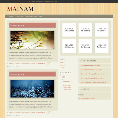 Mainam Blogger Template