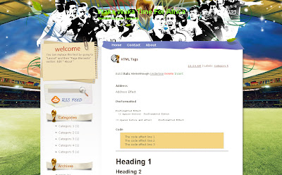 Waka Waka Time For Africa, football blog Theme