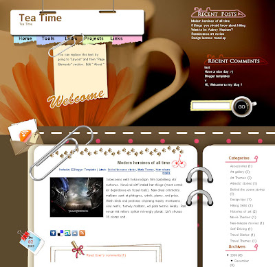 tea time blogger template