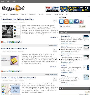 bloggermint premium blogger template