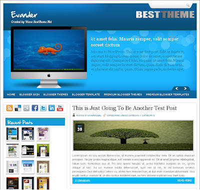 Evander Blogspot Template
