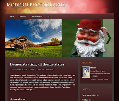 Modern Photography Blog Theme