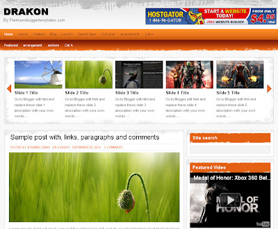 drakon 2 column blogger theme