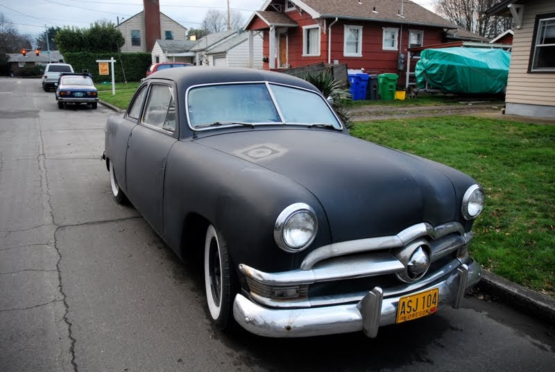 Old parked cars badgeless 1950 ford 2 door sedan for 1950 ford two door