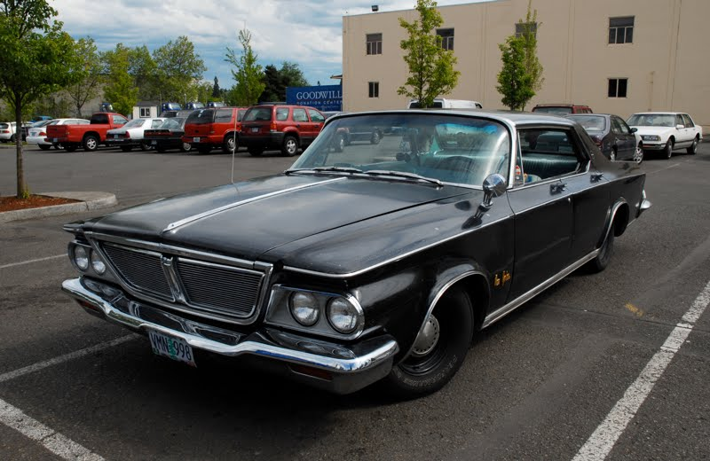 old parked cars 1964 chrysler new yorker salon hardtop