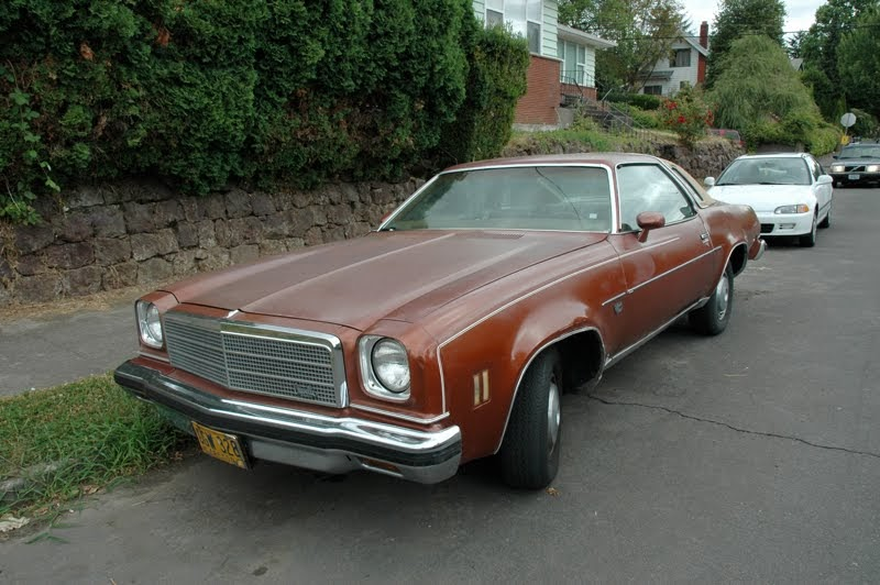Old Parked Cars 1974 Chevy Chevelle Malibu Classic Coupe