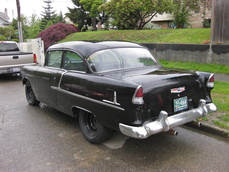 Old parked cars 1955 chevrolet bel air hardtop for 1955 chevrolet belair 2 door hardtop