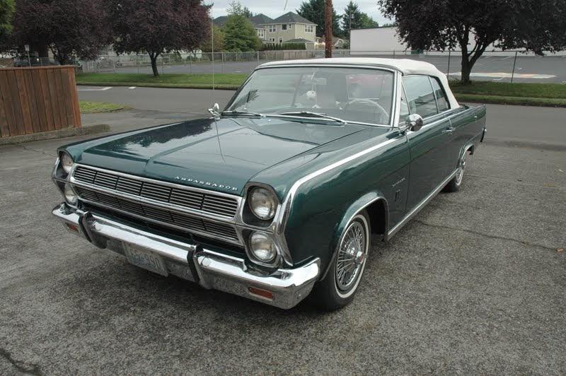 old parked cars 1965 rambler ambassador 990 convertible. Black Bedroom Furniture Sets. Home Design Ideas