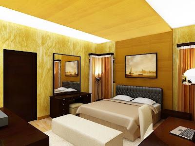 Gambar Kamar Utama on Gambar Desain Interior   Arsitektur  Interior T4 Tidur Bu Indah Cipete