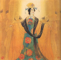 wuzetian holding her arms out and calling to the viewer or something - this image isn't mine but i'm not sure where i got it from