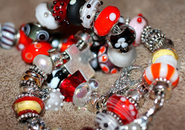 Bracelets Created in Red and white