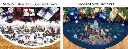 Abullrun Blog Cross Stitch Kit Skaters Village Woodland Santa Tree Skirt Lot 2 And Items Back In Stock