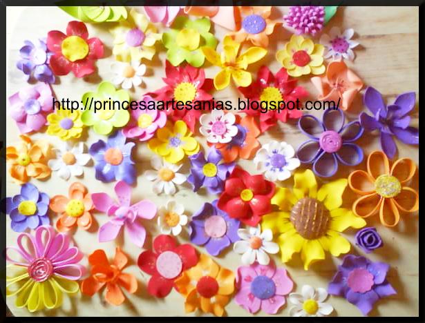 Flores de goma eva con carita imagui - Flores con goma eva ...