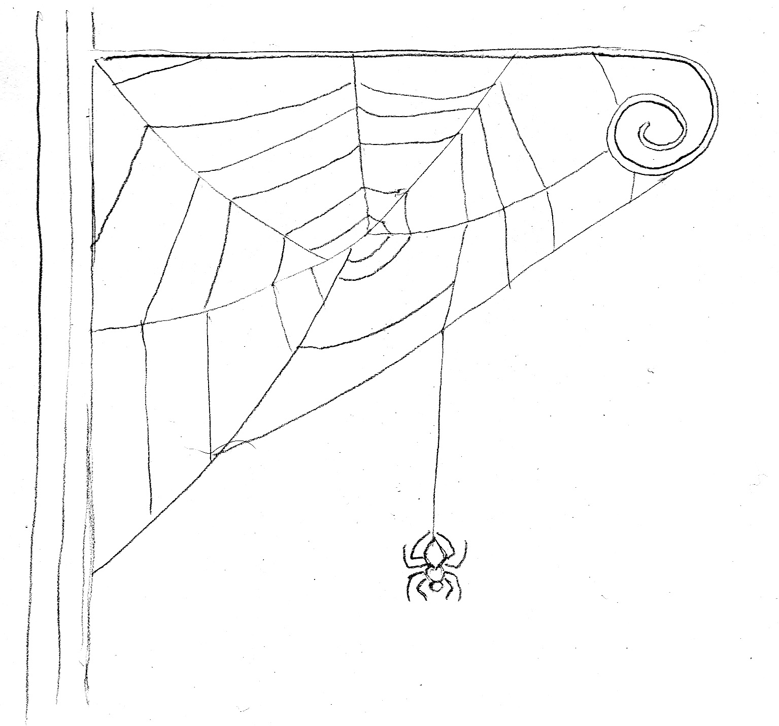how to draw a spider web with a spider