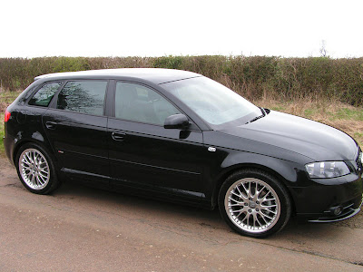 Black audi a3 with 18 inch 20 Spoke Alloy wheels