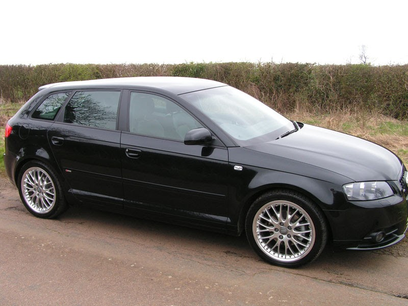 Audi Black Audi A3 With 18 Inch 20 Spoke Alloy Wheels