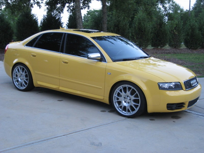 audi: Imola yellow audi s4 b6 with BBS CH rims