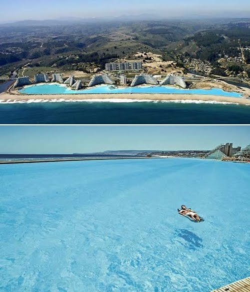 Y la piscina mas grande del mundo esta en for La piscina mas temible del mundo