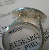 sterling, pierced ring, opal