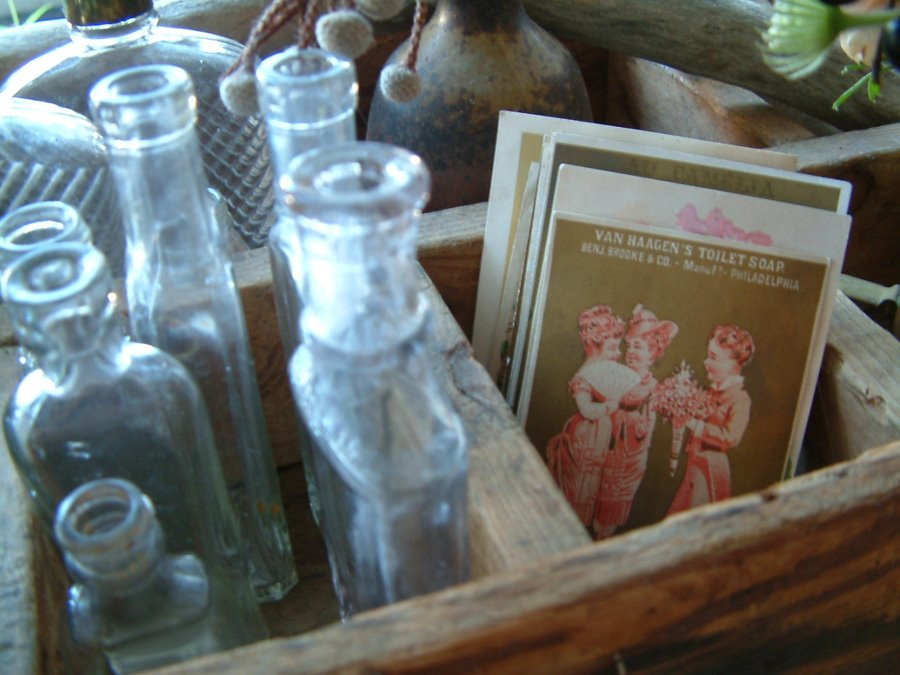 [bottles+and+postcards]