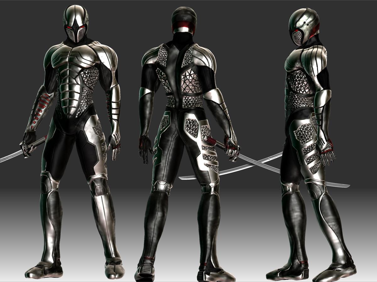 Cyborg Ninja set --- 100kFuturistic Ninja Armor