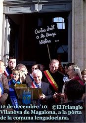 L'image de 2011, manifestacion pels panèls en occitan